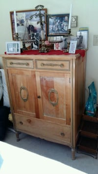 brown wooden cabinet with drawer Surrey