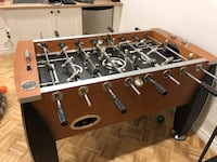 Brown and black foosball table Mississauga, L5N 1Z1