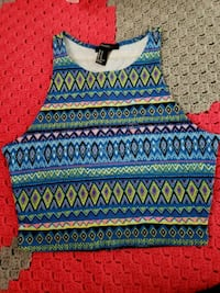 blue and red tribal print tank top Downey, 90241