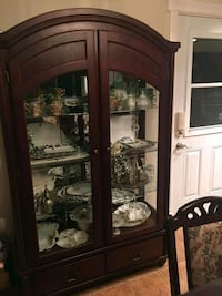 brown wooden framed glass display cabinet Laval, H7R 1P8