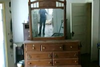 Full size bed with dresser set with mirror Panama City, 32404