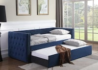 Trina Navy Twin Daybed with Trundle
