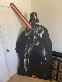 Replica size darth vader made out of cardboard in excellent shape  Palmdale, 93552