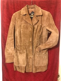 Heavy Tan Real Leather Suede Jacket- 11/12 Annapolis, 21401
