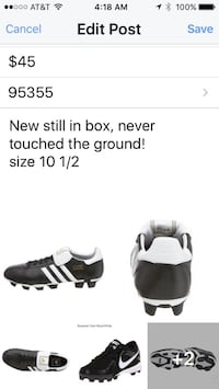 Men's adidas soccer cleats Turlock, 95382