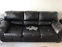 brown leather couch Midland, 79701