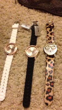 women's three silver-colored analog watches with assorted straps Santa Rosa, 95403