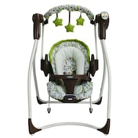 Baby's white brown and green Graco duo portable swing Vaughan, L6A 1E8