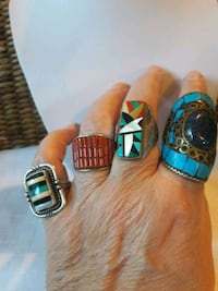 Large Native American stone rings