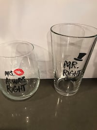 Great wedding gift! His and her glasses  Mineral, 23117
