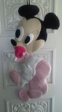 white and pink Minnie Mouse hang door decor El Paso, 79903
