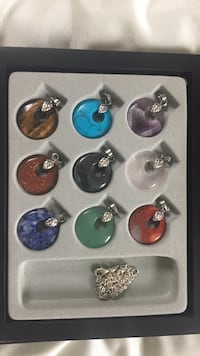 assorted pairs of earrings and rings