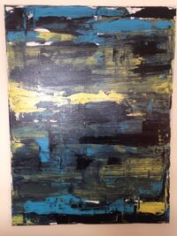 Yellow black and blue abstract painting Ottawa, K1G 2Y7