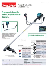 black and gray and black electric string trimmer