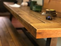 Farmhouse kitchen dining table with benches 2283 mi