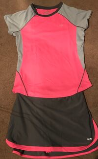 Girls Youth Large Champion tennis skirt and top Reading