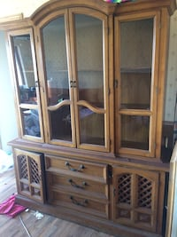 brown wooden framed glass display cabinet Waldron, 72958