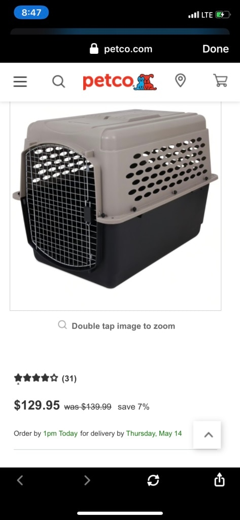 Photo Petco Petmate Dog Kennel Cage XL 40 L X 27 W X 30 H