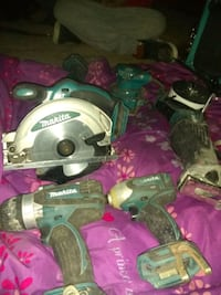 Complete set of cordless mikita power tools