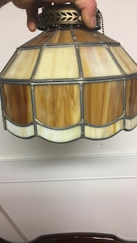 brown stained glass pendant lamp Upper Providence, 19468