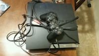 black Sony PS3 slim console with controller Hemet, 92543