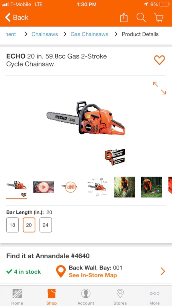 Brand new echo chainsaw. $300 firm. Retails for $399.99 07903fc0-b5cc-4f29-8b55-e1dcc204a396