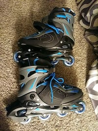 pair of black-and-blue inline skates Littleton, 80123