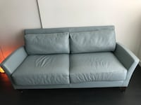 White leather 2-seat sofa Vancouver, V5M 4T9