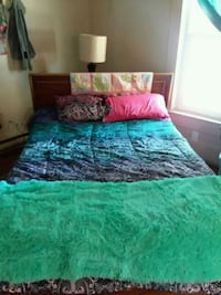 green and pink floral bed comforter