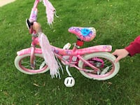 "Girls 14"" bike with training wheels Corinth, 76210"