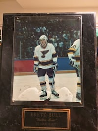 Brett Hull St. Louis Blues Signed Autographed Picture Frame Long Beach, 90808