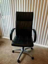 Black leather high back office chair Durham, 27710