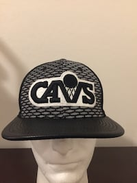 New Era 9fifty Original Fit Cleveland Cavaliers Snapback Black And White NWT Goodyear, 85395