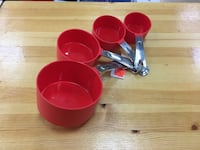 Red and black plastic container