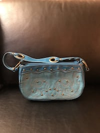 Blue and gray leather handbag Alexandria, 22307