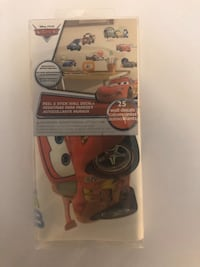 Never opened 25 CARS wall decals - peel and stick decals