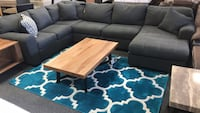 Gray sectional with chaise accent pillows included  Jacksonville, 32246