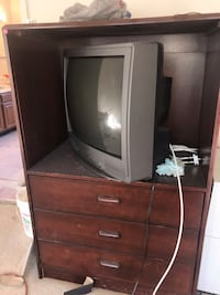 brown wooden cabinet with mirror 56 km