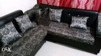 black and gray floral sofa set Navi Mumbai, 400701