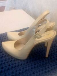 pair of patent leather peep-toe stilettos Brampton, L7A 1Z8