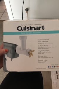 Cousinart Pasta Extruder Attachtment new North Vancouver, V7J 1H4