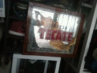 TECATE sign brown wooden framed mirror Stanton, 90680