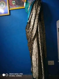 art silk saree new ..leopard print . Dehradun, 248005