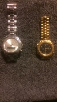 two round gold-colored analog watches Mechanicville, 12118