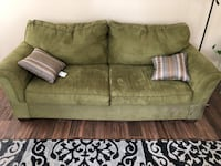 gray fabric 2-seat sofa with throw pillows Martinsburg, 25403