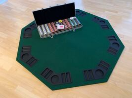 Poker tabletop and chip set
