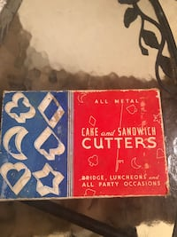 Vintage cake and sandwich cutters