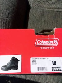 Steal toe Coleman Boots size 10 mens