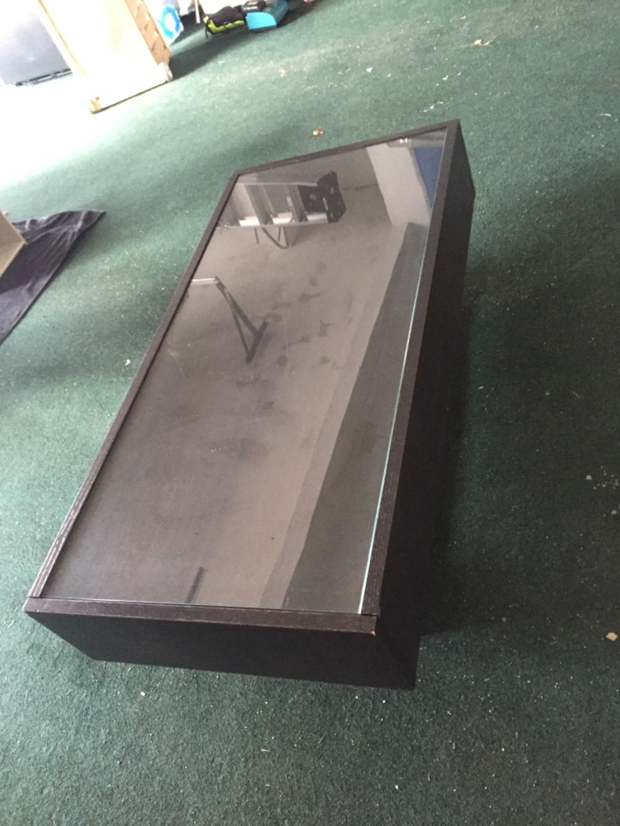 Ikea Ramvik Coffee Table In Black Brown With Glass Top In Roswell Letgo