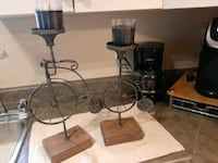 """2 antique looking unicycle candle holders 18""""& 14"""" (NEWTON) Surrey, V3S 9C4"""
